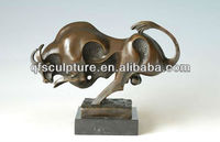 hot cast bronze bull sculpture