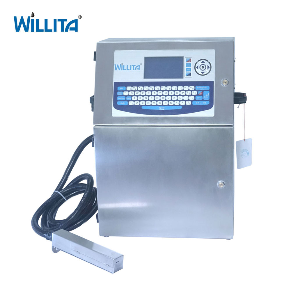 Willita 180 Warranty No Blocking Inkjet Date Coder For Printing Expiry Date