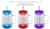 Wholesale Drinking double wall plastic tumbler Mason Jar with handle