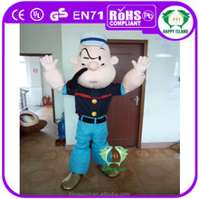 2015 CE EN71 EVA plush adult popeye mascot costume/cartoon movie mascot costumes for party