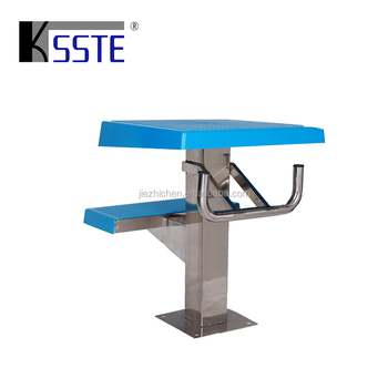 Swimming pool accessories stainless steel starting block diving boards for sale