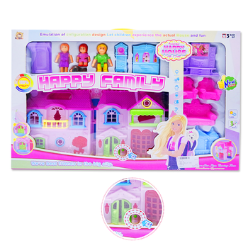Modern Plastic Barbie Doll House Furniture with Light & Music