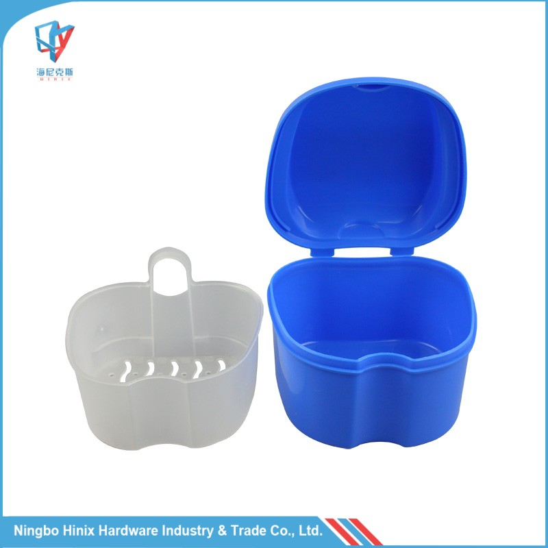 Denture Care Supplies Plastic Dental /Denture Box with Drainer Board