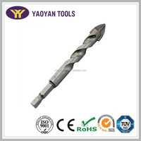 "TCT spear glass & tile drill bit 4 cutter with spiral flute and 1/4"" hex quick change shank"