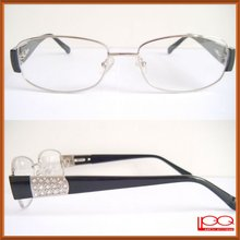 High end diamond eyeglasses frames