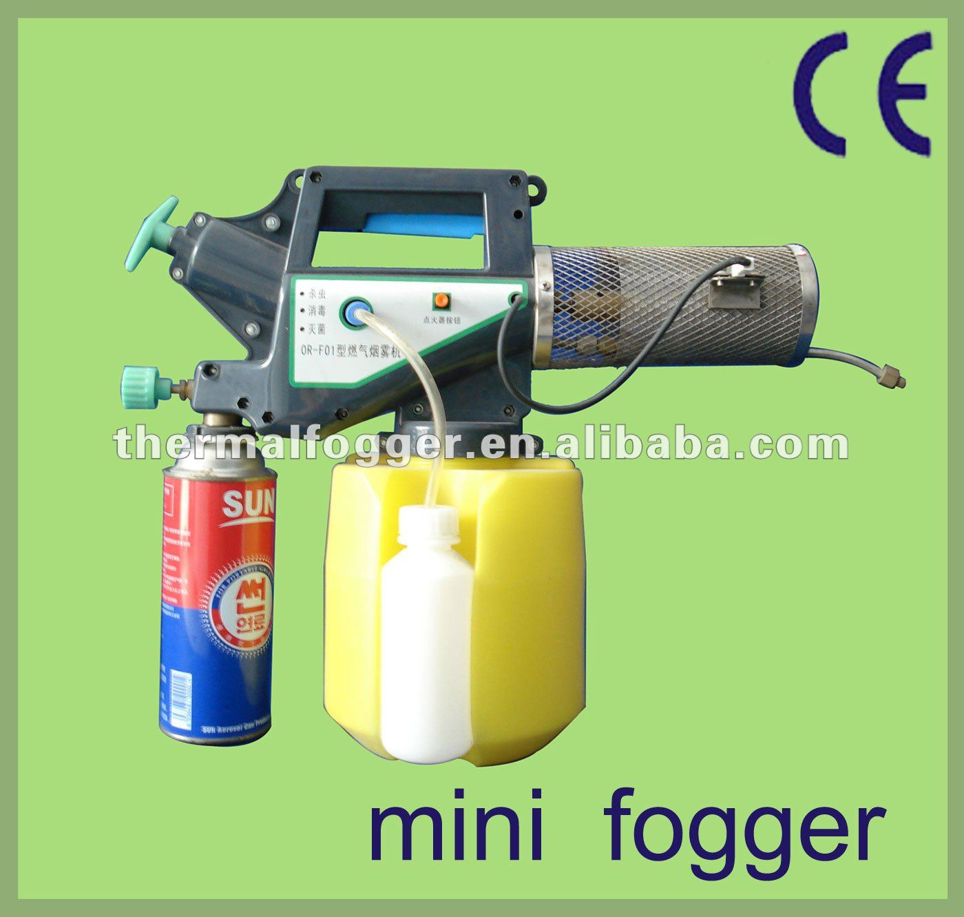 Top sale to india with butane gas for power mini mist 2L China mosquito butane gas mini thermal fogger