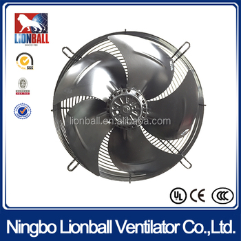 UL approval working in commercial refrigeration/ freezers 350-630mm axial air flow fan