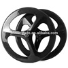 2014 YISHUNBIKE strong& stiff OEM 56mm road tri spoke carbon wheels 700 clincher bicycle wheelsets