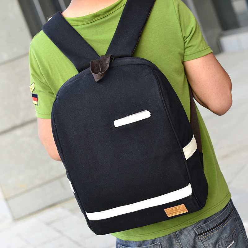 Baigou high quality student laptop backpack canvas school bags for teen