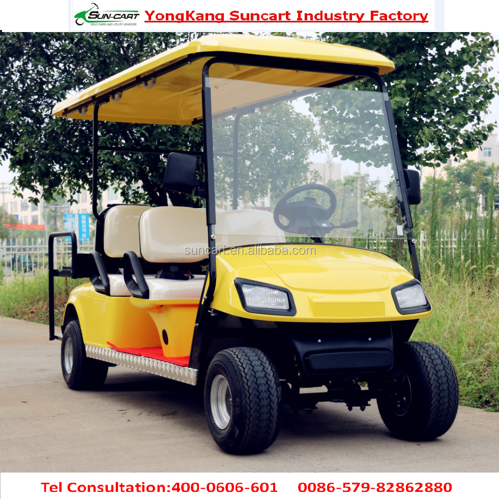 hot selling 6 seater golf cart with rain cover,luxury real estate car