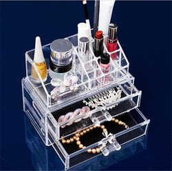 New Clear Cosmetic Organizer Makeup Jewelry Display Box Acrylic Lipstick Case