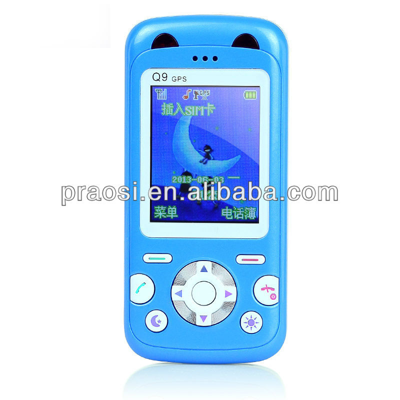 unlocked gsm kids children easy use gps sos mobile phone push to talk emergency cell phone