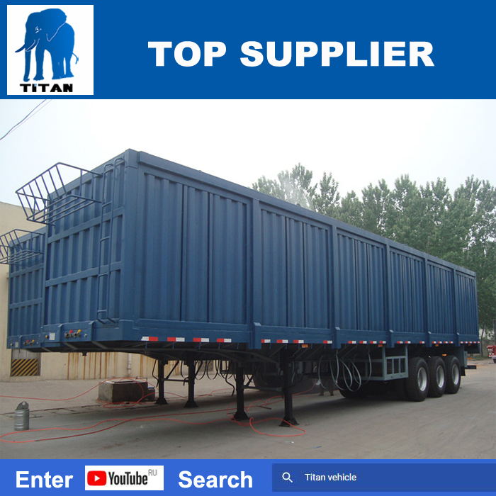 TITAN Cheap semi trailers enclosed van type box semi trailer for sale