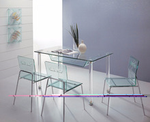 New design simple modern style transparent acrylic perspex dining table