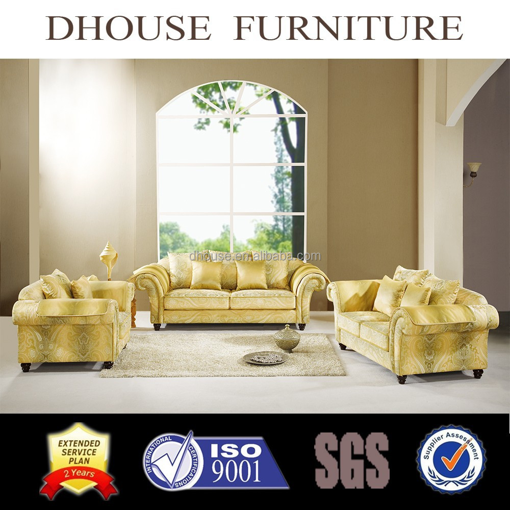 classic design chesterfield fabric sofa set hotel furniture AL132