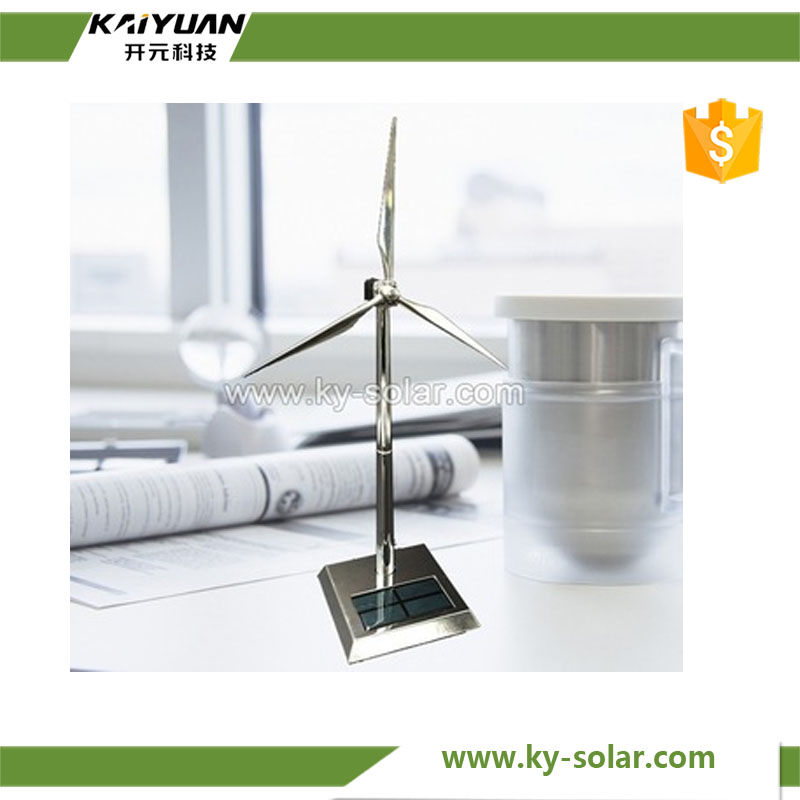 Hottest selling USB Zinc alloy desk decoration solar windmill toy