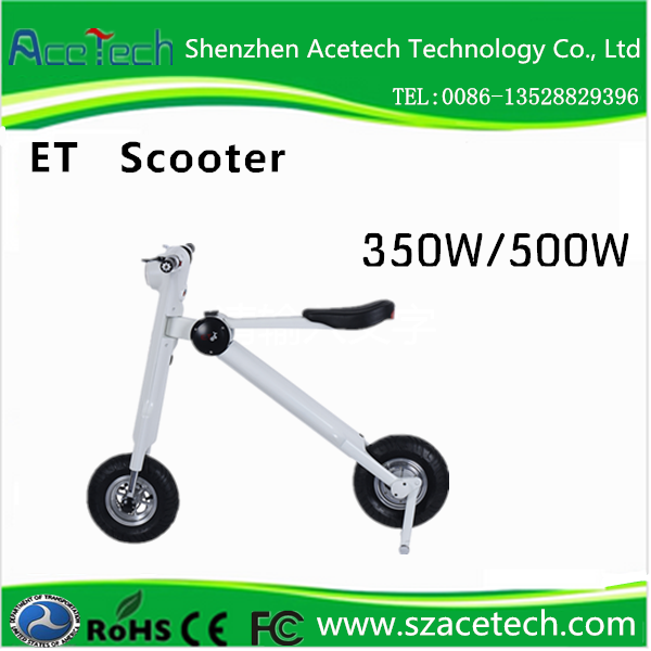 2017 electric two-wheeled vehicle, E scooter with 48v 11AH Lithium Battery and Foldable Design