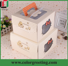 small folding gift box bread packaging paper box hamburger packaging paper