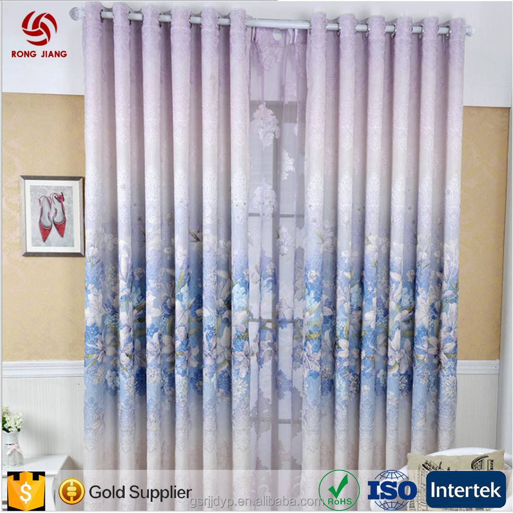 Modern L inen Jacquard Polyester Curtains for Manafactured Home and Hotel