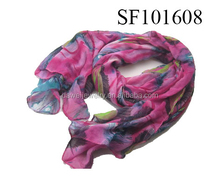 fashion feather print hijab scarf shawls