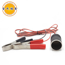 12v dual crocodile clamp single cigarette lighter socket car charger battery charging cable