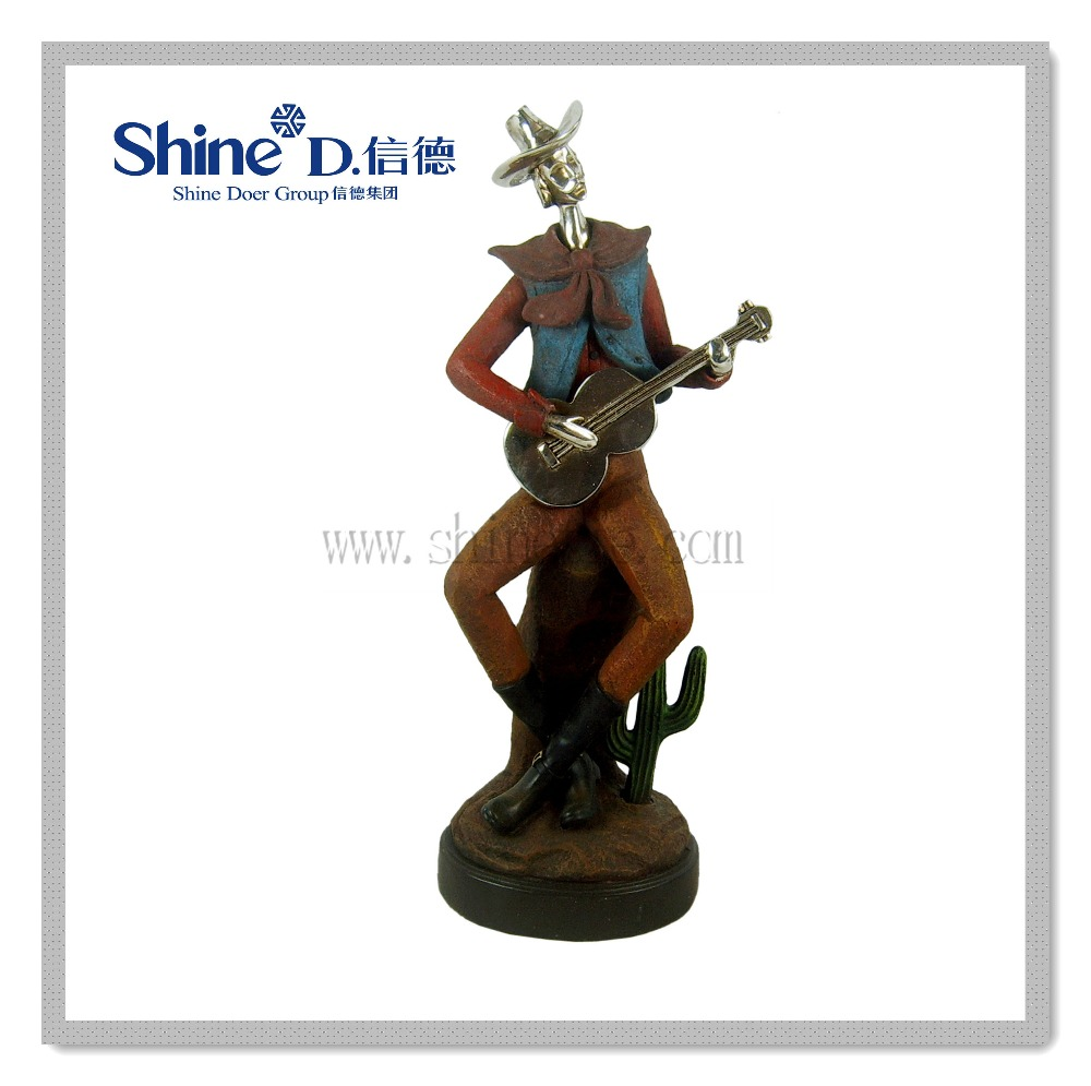 Polyresin Quixote statue knight sculpture for home decorations