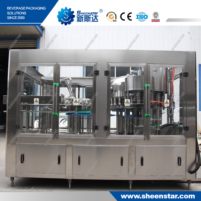 The Newest CGF24-24-8 Auto Water Filling Machine Line To Vietnam