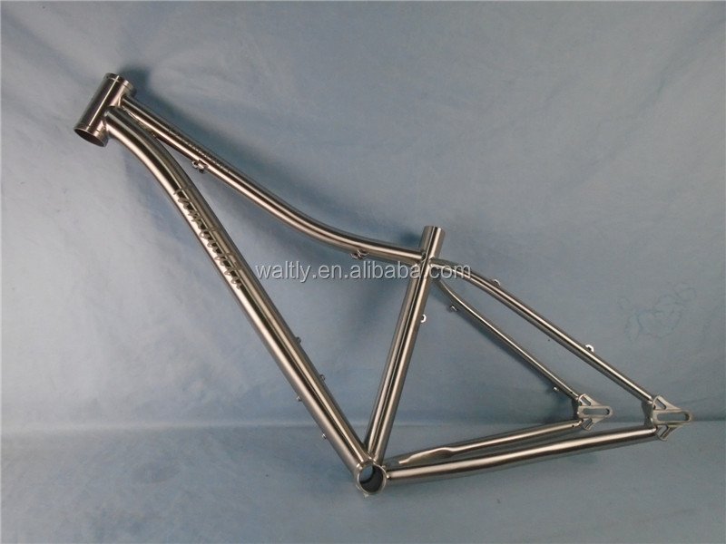 Fashion and special titanium fat bike frame with sandblasted logo