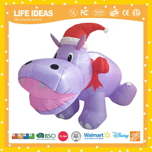 Holiday time hippo or elegant christmas party decorations electrical