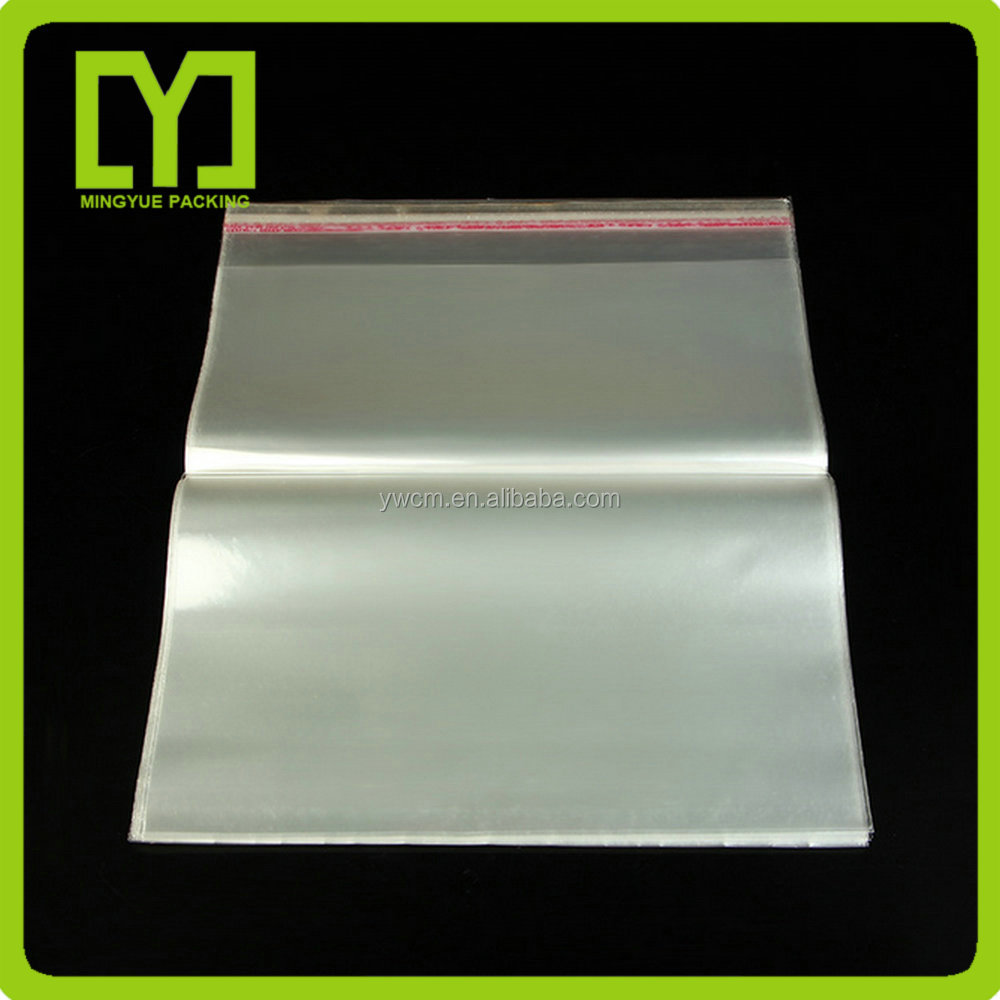 yiwu top selling strong glue clear plastic package bag self adhesive opp bag