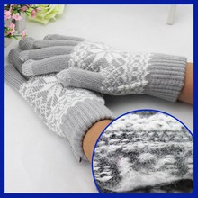 winter mittens for adults / wholesale knit mittens / one finger mitten glove