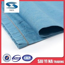1120C China manufacturer 100%organic cotton 150cm width twill denim fabric garments