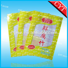 custom printed FDA-grade vacuum plastic bags with custom logo