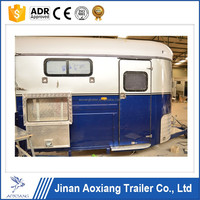 China high quality 2 horse trailer for sale,3 horse float angle load,Chinese imported horse floats