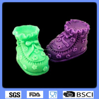 3D silicone fondant mold sugar art chocolate mold shoe shaped cake decorating tools CD-F612