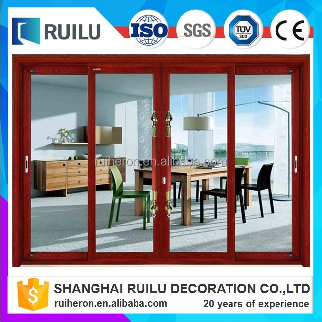 double tempered insulated soundproof aluminium glass kitchen double door design
