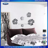 Flower shaped self adhesive acrylic mirror wall decoration