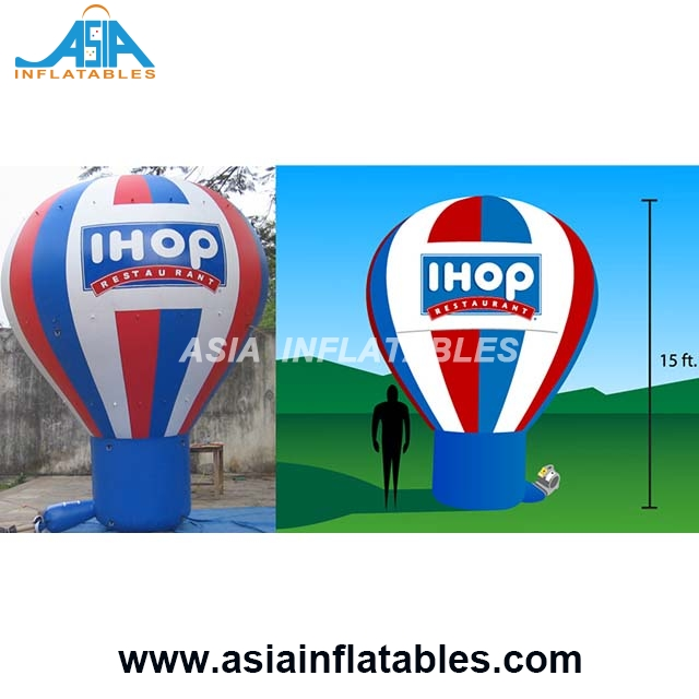 15ft Gaint Air Balloon Inflatable Helium Balloon logo Printing for Brand Advertising / Inflatable Ground Balloon