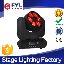 promotional 6x15w dmx rgbw 4-in-1 bee eye led wash moving head