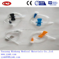 Disposable single wing infusion needle, infusion needle butterfly type