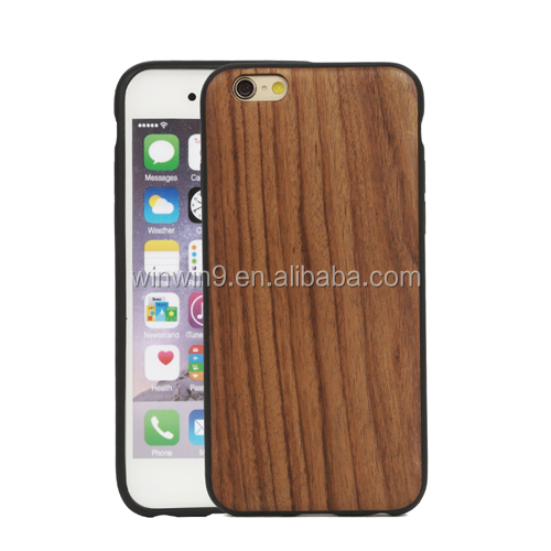 wholesale phone accessories for iphone6, PC phone cover, customer design wood phone case