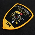 custom logo high quality hook and loop backing woven patch for garment