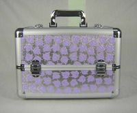 SB12183 high quality new design aluminum makeup train case , beauty train case , cosmetic train case
