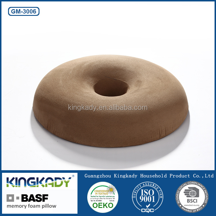 2015 New Round Memory Foam Pillow With Hole