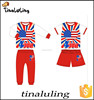 2015 new design boys and girls usa clothes tinaluling children clothing wholesale