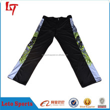 100% polyester mens sublimation printed baseball pants for team wear baseball sweatpants