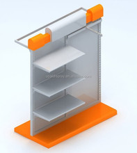 Two tiers display table, table top display shelves for clothing table display stand