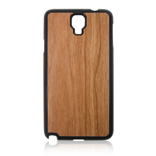 PC wood chip case natural wooden phone shell wood back cover for Samsung note3 neo