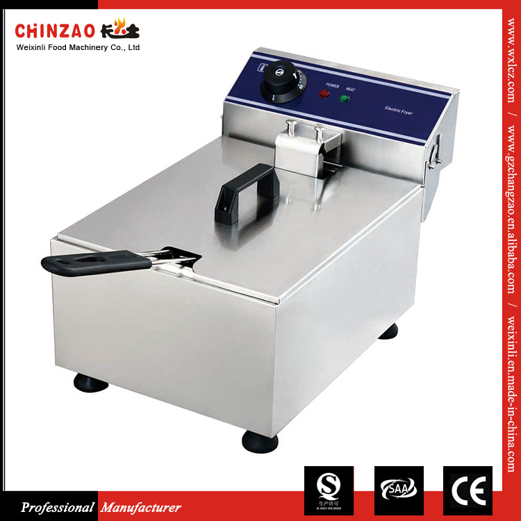 CHINZAO Electric Automatic Mini Potato Deep Donut Fryer