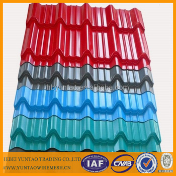 Color corrugated steel roofing iron sheet for sale